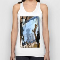 volleyball Tank Tops featuring Anyone For Volleyball? by Robin Curtiss