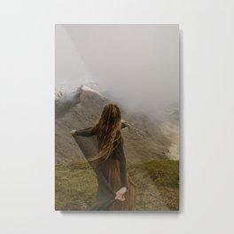 On Top of Mount Snowdon Metal Print