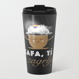 Kava, ti i zagrljaj Metal Travel Mug