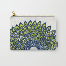 Peacock Feather Mandala – Navy & Lime Palette Carry-All Pouch
