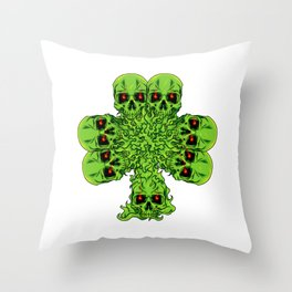 Skull Cloverleaf - St. Patrick's Day Throw Pillow