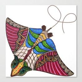 Colorful Stingray Canvas Print
