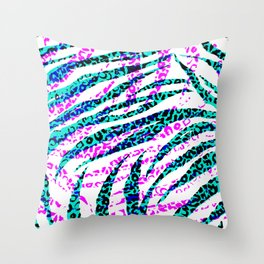 Animal Print In Bright Colors II Throw Pillow