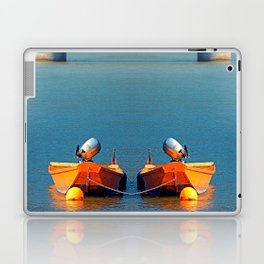 Boat on the river | landscape photography Laptop & iPad Skin