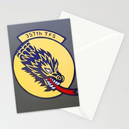 Air Force 357th Fighter Squadron Plane Emblem Stationery Cards