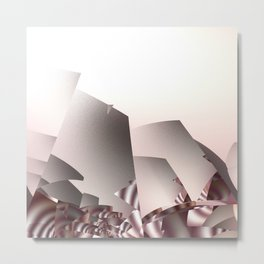 Misty Morning in Abstract Landscape Metal Print