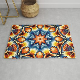 Colorful Concentric Motif Rug