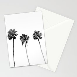 Black + White Palm Trees Stationery Cards