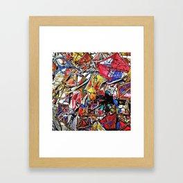Kite Party Framed Art Print