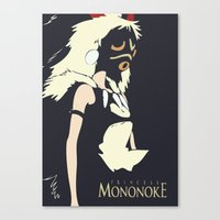 princess mononoke Canvas Prints featuring Princess Mononoke by Studio Momo╰༼ ಠ益ಠ ༽