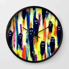 paint-pattern 1 (the chaps) Wall Clock