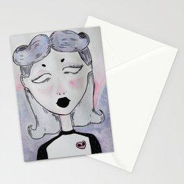 pastel girl Stationery Cards