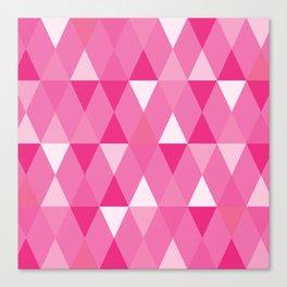 Harlequin Print Pinks Canvas Print