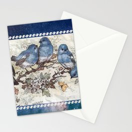 Vintage Blue Birds Stationery Cards