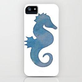 Watercolor Seahorse by Lo Lah Studio iPhone Case
