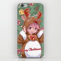 madoka magica iPhone & iPod Skins featuring Xmas Madoka Magica by Neo Crystal Tokyo