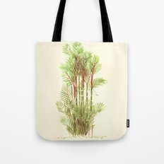 Palmier Rouge - Red Palmtree Tote Bag