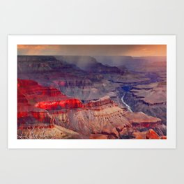Red Sunrise at the Grand Canyon Art Print