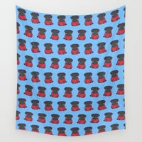 pug Wall Tapestries featuring pug by turddemon