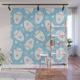 Snowing Marshmallows Wall Mural