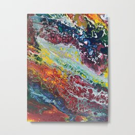 Cellular Colorful Chaos Metal Print