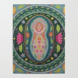 Spring Goddess Mandala Poster