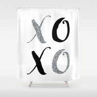xoxo Shower Curtains featuring XOXO by Indulge My Heart
