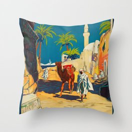 Vintage poster - Tripoli Throw Pillow