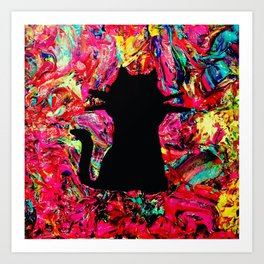 Mushy Kitty Vibes Art Print