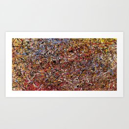 ELECTRIC 071 - Jackson Pollock style abstract design art, abstract painting Art Print