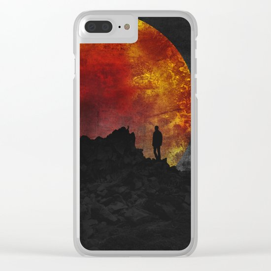 ash and fire Clear iPhone Case