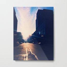 waking (fog) Metal Print
