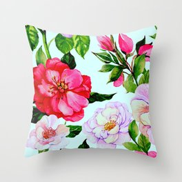 Vintage Classic Elegant Floral Print Pattern Throw Pillow