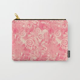 Cute watercolor pink hearts pattern Carry-All Pouch