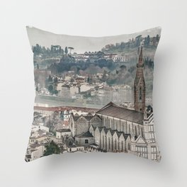 Aerial View Historic Center of Florence, Italy Throw Pillow
