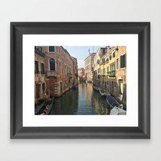 Venetian Waterway Framed Art Print