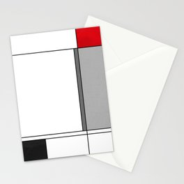 Minimalist Abstract Black and Red Stationery Cards