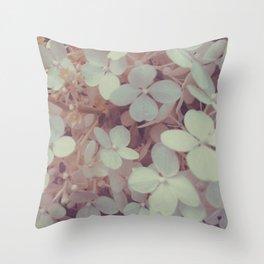White Flower Bush Throw Pillow