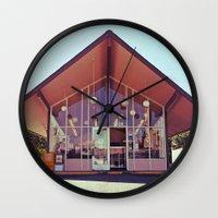 mid century Wall Clocks featuring Mid-Century Americana by Vorona Photography