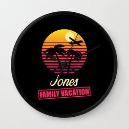 Jones Family Vacation Wall Clock