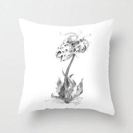 Flowering Medusa (part of the Strange Plants series) Throw Pillow