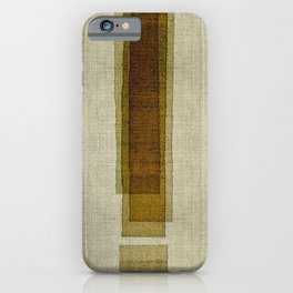 """Burlap Texture Greenery Columns"" iPhone Case"