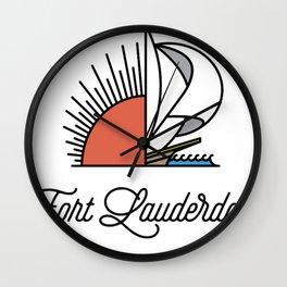Fort Lauderdale Wall Clock