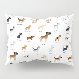 Lots of Cute Doggos - With Names Pillow Sham
