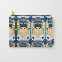 Baseball Blue Pinstripes - Rhubarb Pitchbatter - Josh version Carry-All Pouch