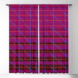 grid check layer_magenta Blackout Curtain