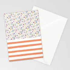 Flowers & Stripes Stationery Cards