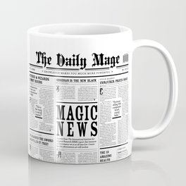 The Daily Mage Fantasy Newspaper Coffee Mug