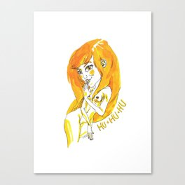 HU HU HU Canvas Print