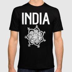 INDIA MEDIUM Black Mens Fitted Tee